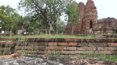 Stock Video Footage of Ayutthaya Historical Park