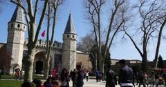 Main Topkapi Entrance in istanbul Stock Footage