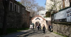 Way to the Archaeology Museum in Istanbul Stock Footage