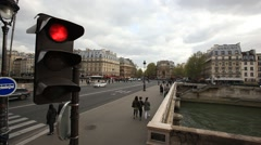 PARIS.FRANCE- 2013: View from the bus window.Car POV - stock footage