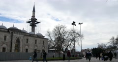 Beyazit Square with Beyazit Mosque Istanbul Stock Footage