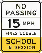 School Speed Limit Sign Arizona Stock Illustration