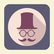 Gentleman flat icon. Stock Illustration