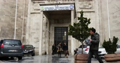 Entrance to the Istanbul University Stock Footage