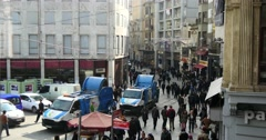 Part of the Istiklal Avenue Istanbul Stock Footage