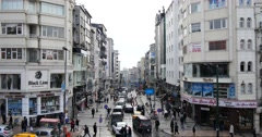 Traffic rush hour on the streets of Istanbul 4K Stock Footage