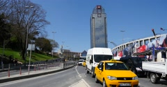 Traffic near the new Besiktas stadium Istanbul Stock Footage