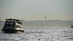 Slow Motion of Boat at Marmara sea Stock Footage