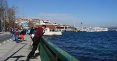 Besiktas harbor and bus station Istanbul Stock Footage