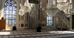 Interior of Ortakoy Mosque 4K Stock Footage