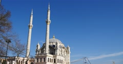 Minarets of Ortakoy Mosque 4K Stock Footage