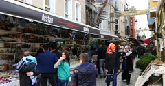 Shopping Street at the Ortakoy Square 4K - stock footage