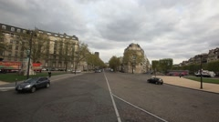 PARIS.FRANCE- 2013: POV. View from the bus window. - stock footage