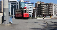 Tunel Tram at Taksim Square Stock Footage