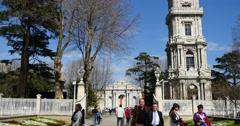 Dolmabahce palace entrance 4K Stock Footage