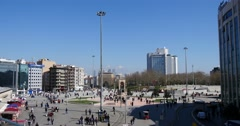 Panorama of Taksim Square 4K - stock footage