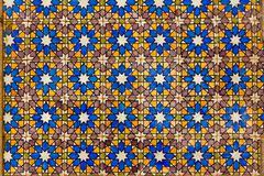 Typical Lisbon old ceramic wall tiles (azulejos) Stock Photos