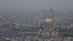 PARIS.FRANCE- 2013:Top view of Paris city  from the Eiffel Tower. View on the - stock footage
