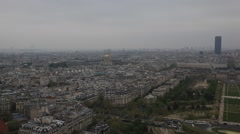 PARIS.FRANCE- 2013:Top view of Paris city  from the Eiffel Tower - stock footage