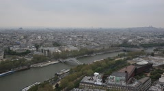 PARIS.FRANCE- 2013:Top view of Paris city  from the Eiffel Tower Stock Footage