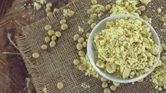 Rotating Soy Flour (not loopable) Stock Footage