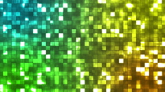 Broadcast Twinkling Firey Light Squares, Multi Color, Abstract, Loopable, HD Stock Footage