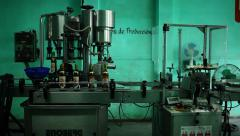 Old cuban Rum factory. Vintage industrial machinery. Alcohol at caraibes Stock Footage
