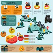 Mining Infographics Set - stock illustration