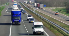 Traffic at highway Netherlands Stock Footage