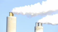 Smoke Pollution Global Warming Climate Change Industry 4K Ultra HD Stock Footage