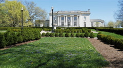 Kentucky Governor's Mansion in Early Spring Stock Footage
