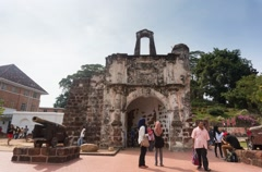 A Famosa Fort, Malacca - Time Lapse Stock Footage