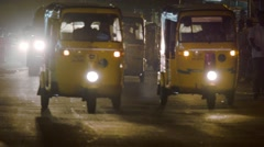 Late night traffic congestion, Chennai, India - stock footage