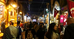 Inside of the Egyptian Bazaar in Istanbul Stock Footage