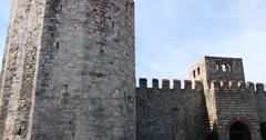 Yedikule Fortress in Istanbul 4K Stock Footage