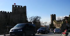 Anadolu Fortress in Istanbul Stock Footage
