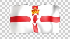 The Northern Ireland flag, also known as the Ulster Flag. Stock Footage