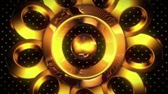 Golden Dreams VJ Loop 2 Stock Footage