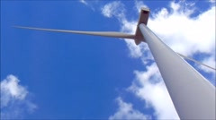 Wind power plant Stock Footage