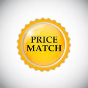 Price Match Label Vector Illustration Stock Illustration