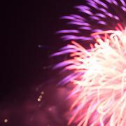 red and purple light burst blur fireworks - stock photo