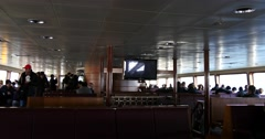 Inside of a ferry in Istanbul Stock Footage