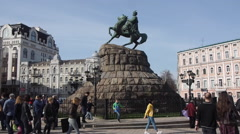Monument of Bohdan Khmelnytsky 2 Stock Footage