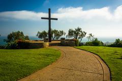 Father Serra Cross, at Grant Park, in Ventura, California. - stock photo