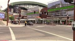 Pedestrians in downtown Phoenix, Arizona Stock Footage
