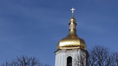 Top of St Sophia Belltower Stock Footage