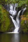 Dyfi Furnace Waterfall in early autumn Stock Photos