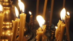 Memory candles Stock Footage