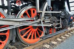 Steam locomotive chassis Stock Photos