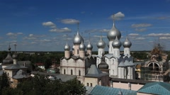 ROSTOV.RUSSIA - 2012: Kremlin. View from the bell tower Stock Footage